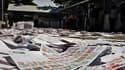 Dans un bureau de vote de Port-au-Prince, après que des électeurs en colère ont détruit le matériel électoral pour protester contre la confusion ayant régné dimanche lors des scrutins présidentiel et législatifs décisifs pour l'avenir du pays et sa recons