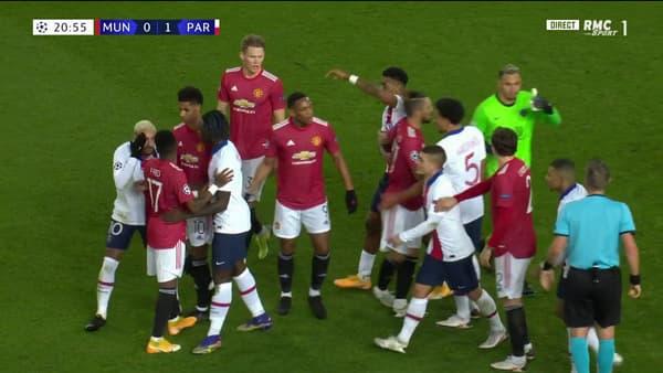 La tension est montée entre les deux équipes
