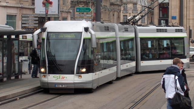 Un tramway à Nancy (Photo d'illustration).