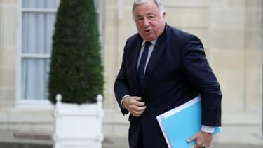 Le président du Sénat Gérard Larcher arrive pour une réunion à l'Elysée, à Paris, le 2 juillet 2020