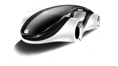Le concept d'une voiture conçue par Apple (ici une esquisse de designer) restera-t-il à jamais dans les cartons de la firme de Cupertino? Probablement.