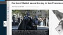 Batkid et son aîné Batman dans les rues de San Francisco pour chasser les vilains, le 15 novembre 2013