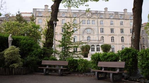 Le lycée d'enseignement catholique Fenelon, situé dans le centre-ville de La Rochelle, où se sont produits les faits, ici le 11 avril 2014.