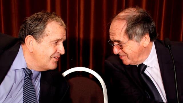 Fernand Duchaussoy et Noël Le Graët