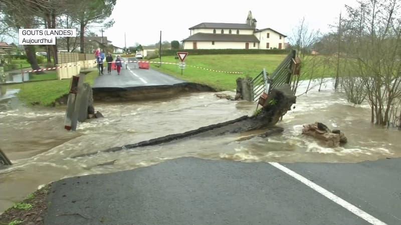 Les Landes touchées par d'importantes crues, plus d'une trentaine de routes coupées