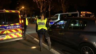 Des contrôles nocturnes sont organisés à Lyon pour faire respecter le confinement.
