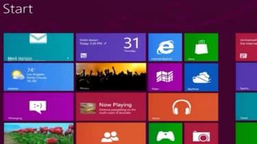 Microsoft a décidé de monter un interface proche d'un écran de téléphone portable