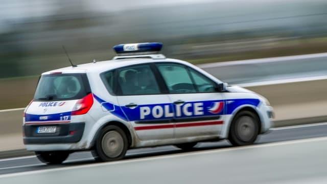 Voiture de la police, le 10 janvier 2017 à Lesquin (Nord) (Photo d'illustration)