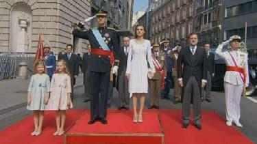 Felipe VI, sa femme Letizia et leurs deux filles, Leonor et Sofia.