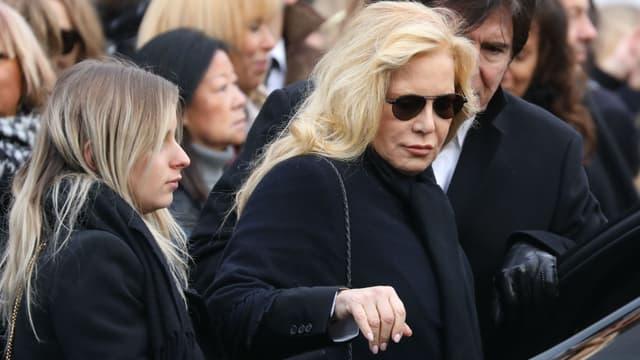 Sylvie Vartan à la cérémonie organisée en hommage à Johnny Hallyday à l'église de la Madeleine à Paris, le 9 décembre 2017