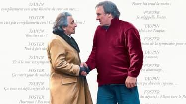 Affiche de Convoi Exceptionnel avec Clavier et Depardieu.