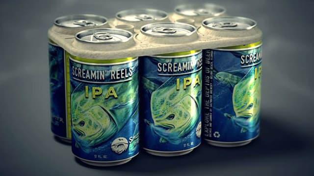 Le pack de bière écologique imaginé et conçu par la brasserie américaine.
