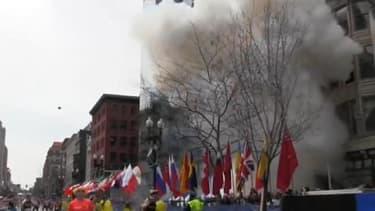 Explosion à Boston lundi à l'arrivée du marathon.