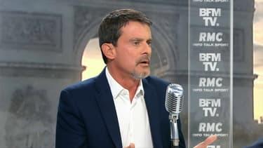 Manuel Valls vendredi matin sur BFMTV et RMC.