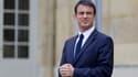 Manuel Valls le 16 avril 2015 à Matignon, à Paris. Le chef du gouvernement propose d'introduire des cours d'improvisation à l'école.