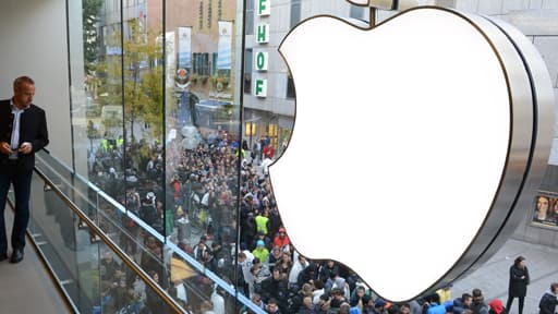 21 septembre 2012, avant l'ouverture de l'Apple Store de Munich