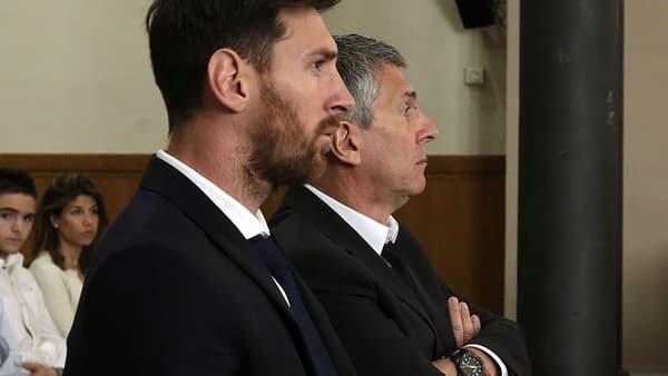 Lionel et Jorge Messi, à Barcelone le 2 juin 2016