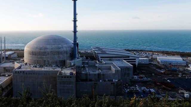 Le chantier du réacteur nucléaire EPR à Flamanville