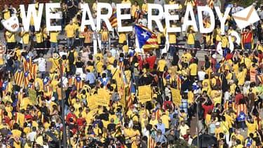 Des milliers de manifestants s'étaient retrouvés dans les rues de la Catalogne pour défendre l'indépendance de la région.