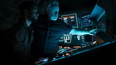 Jussie Smollet et Ridley Scott sur le tournage d'Alien Covenant.