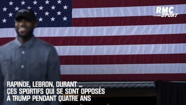 Rapinoe, LeBron, Durant ... ces sportifs qui se sont opposés à Trump pendant 4 ans