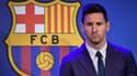 Lionel Messi lors de ses adieux au Barça
