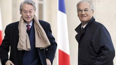 Les présidents UMP des commissions des Finances du Parlement Philippe Marini et Gilles Carrez.