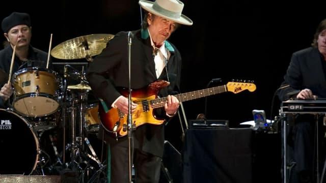 Bob Dylan lors d'un concert à Shanghai en 2011.