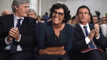 Stéphane Le Foll, Myriam El Khomri et Manuel Valls, le 8 juin 2016, à Paris.