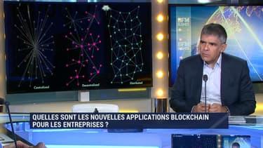 """Christian Poyau, président de la commission transformation numérique au Medef, dans la """"Spéciale Blockchain"""" de Good Morning Business."""