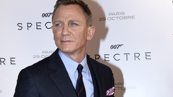 """Daniel Craig le 29 octobre 2015 à Paris à l'avant-première de """"Spectre""""-"""