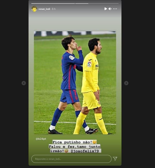 Renan Lodi répond à la célébration de Joao Felix contre Villarreal