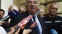 Gérard Larcher mardi après son élection en tant que candidat UMP à la présidence du Sénat.