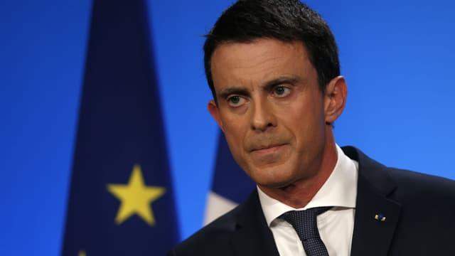 Le Premier ministre Manuel Valls le 13 décembre 2015, lors du second tour des élections régionales