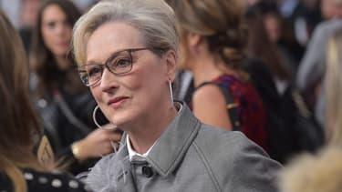 """Meryl Streep le 14 décembre 2017 à Washington, pour la première de  """"Pentagon Papers"""""""