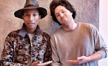 Pharrell Williams et Jean Imbert en mai 2014.