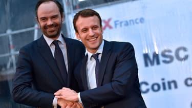 Edouard Philippe et Emmanuel Macron en février 2016.