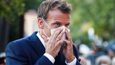 Emmanuel Macron le 17 août à Bormes-les-Mimosas.