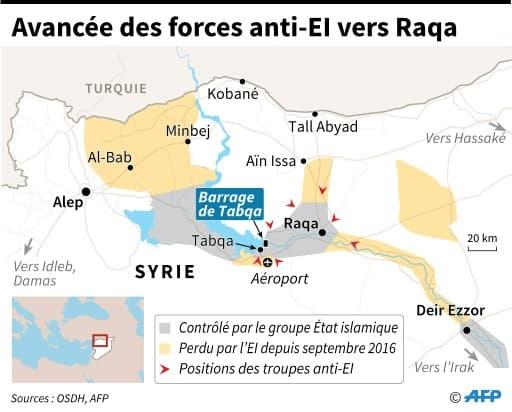 Avancée des forces anti-EI vers Raqa