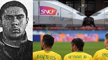 Le suspect de la tuerie du Musée juif de Bruxelles Mehdi Nemmouche, la grève à la SNCF, et des joueurs de l'équipe de foot du Brésil