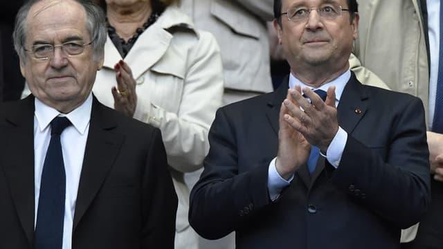 Noël Le Graët et François Hollande
