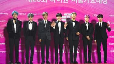 Le groupe de K-pop BTS, le 15 janvier 2019 à Séoul