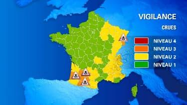 7 départements ont été placés en Vigilance orange inondations.
