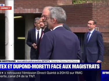 Castex et Dupond-Moretti sont arrivés au tribunal de Bobigny pour rencontrer les magistrats