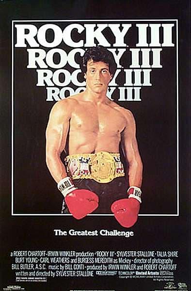 L'affiche de Rocky III