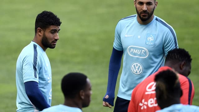 Nabil Fekir et Karim Benzema