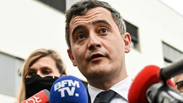 Le ministre de l'Intérieur Gérald Darmanin, le 15 février 2021, à Annemasse