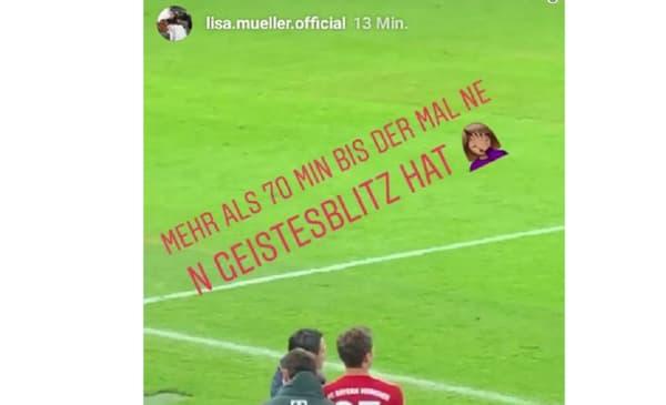 La femme de Thomas Müller se paye Niko Kovac pendant Bayern-Fribourg