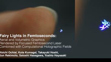 Petite fée holographique réactive au toucher.