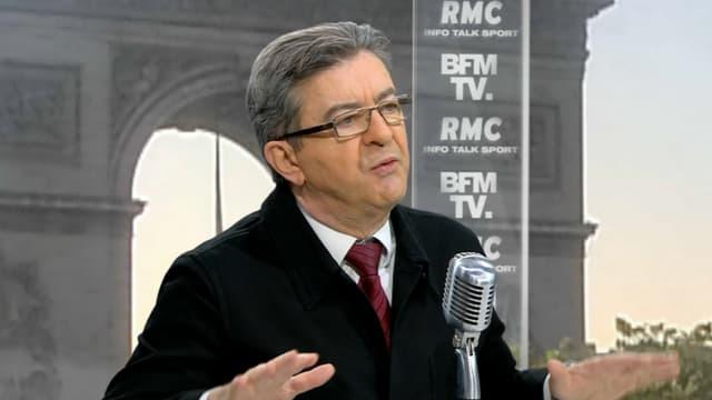 Jean-Luc Mélenchon à l'antenne de BFMTV et RMC.